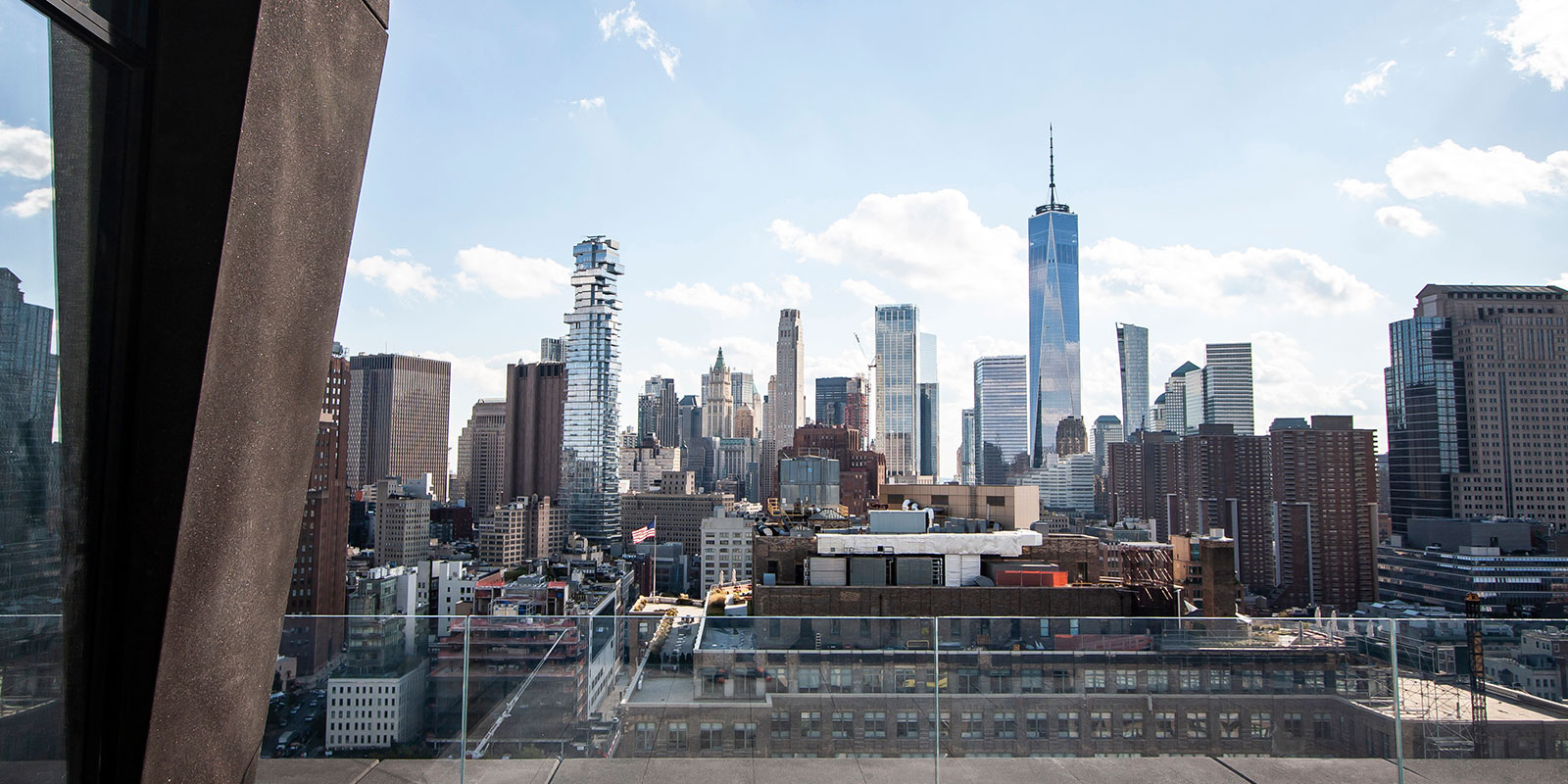 Southern view of downtown Manhattan from 111 Varick roofdeck